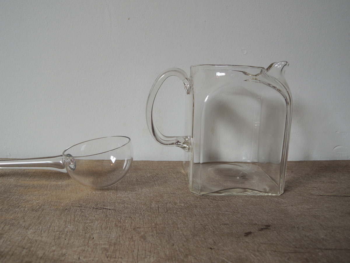 Glass Ladle & Water Jug