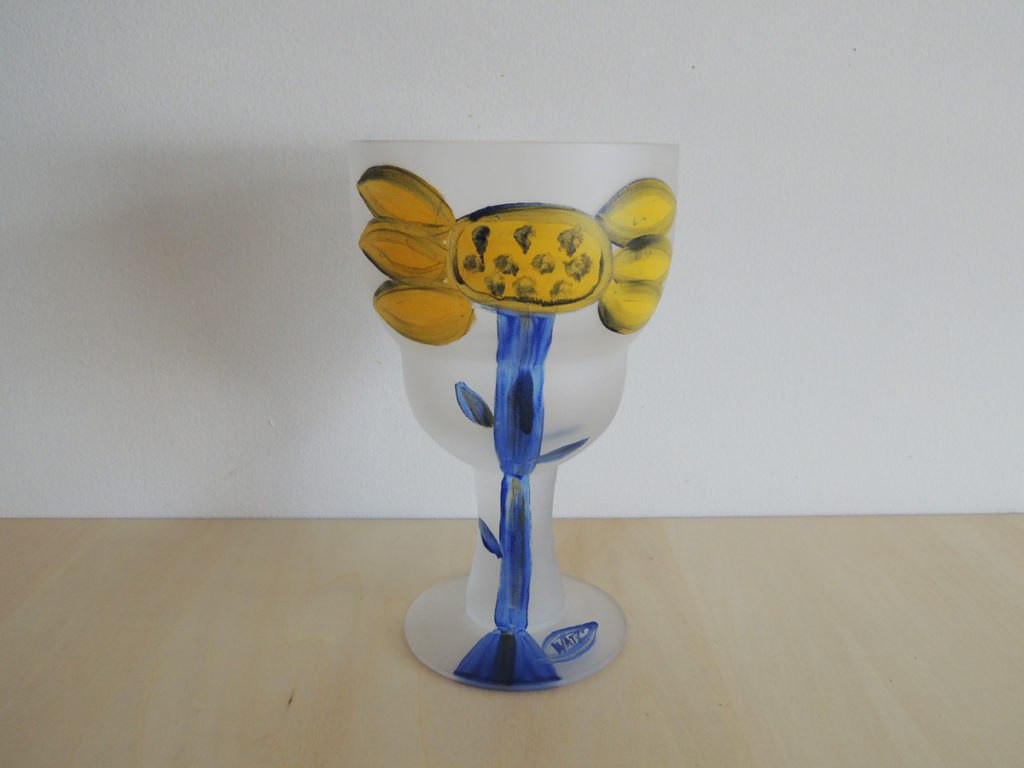 """""""Flower Painted"""" Cup"""