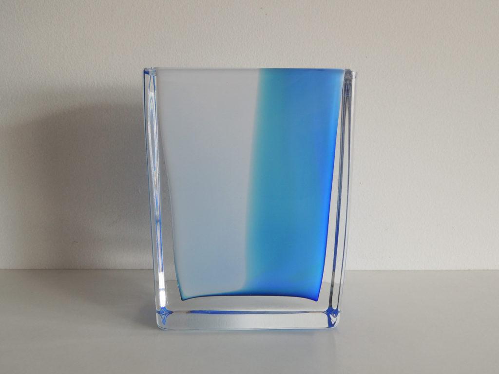 Vase(white×blue)