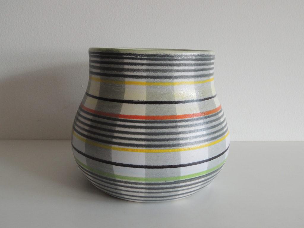 Vase(plaid)